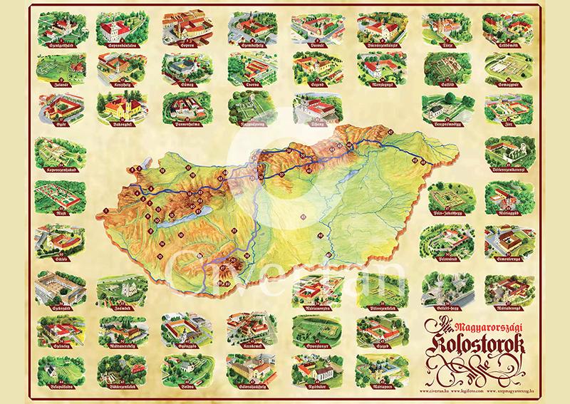 magyarország látványosságai térkép A turizmust támogató, az utazást segítő látványtérképek magyarország látványosságai térkép
