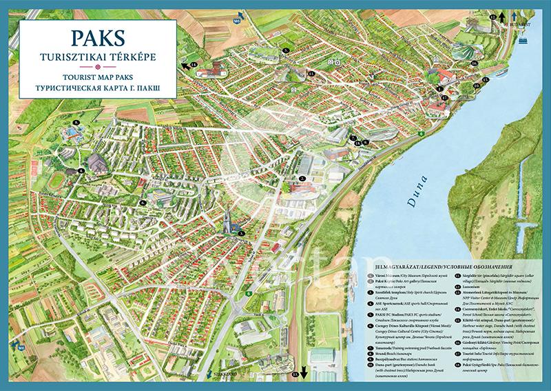 paks térkép A turizmust támogató, az utazást segítő látványtérképek